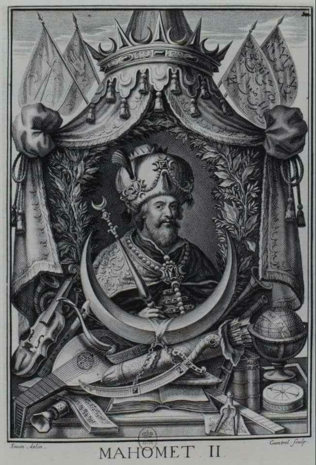 fatih sultan mehmet gravürü, 17. yy., fransa