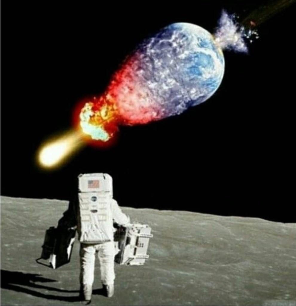 eğer bir astronot olsaydınız ve bu manzarayla karşılaşsaydınız ilk sözünüz ne olurdu