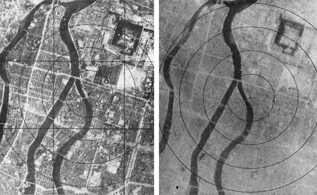 atom bombası atılan hiroşimanın öncesi ve sonrası