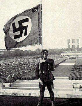 nürnberg mitingi sırasında sa askeri.