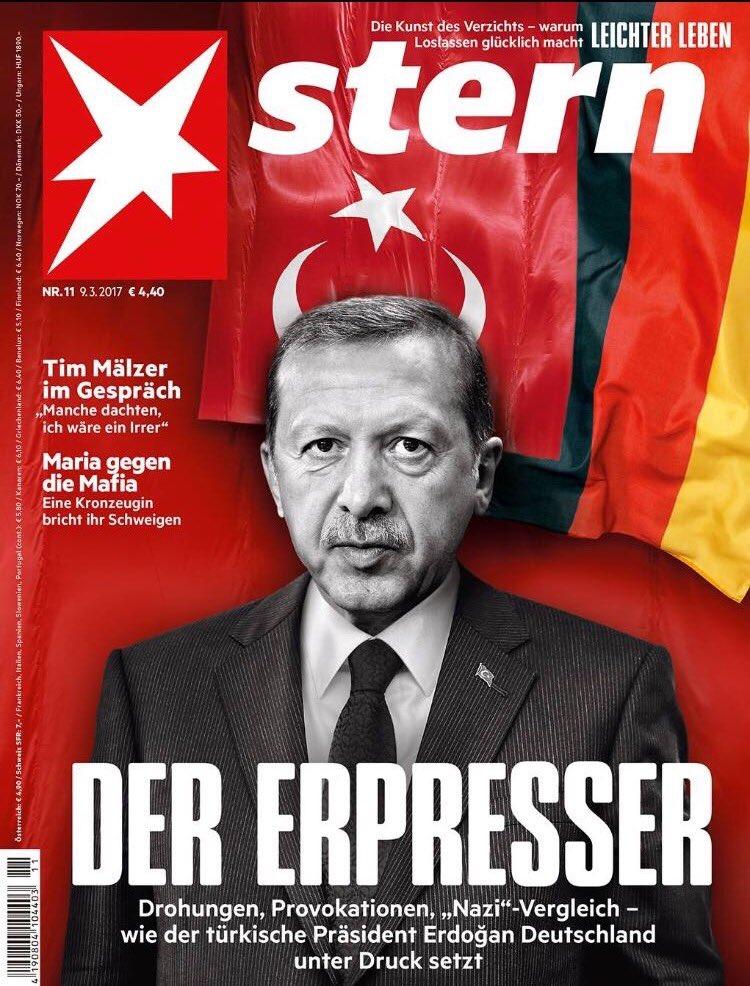 alman dergisinin cumhurbaşkanı erdoğan hakkında yaptığı skandal kapak