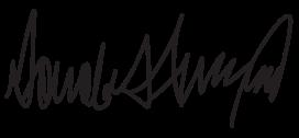 trump'ın saçma sapan olan imzası