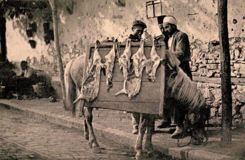 osmanlı'da bir seyyar kasap, ıstanbul 1906