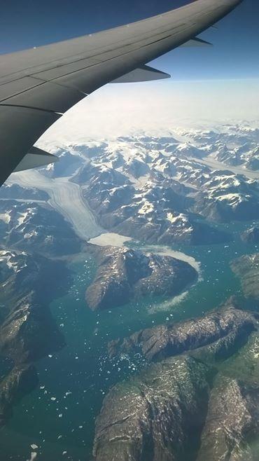 izlandanın uçak kanadından görünüşü