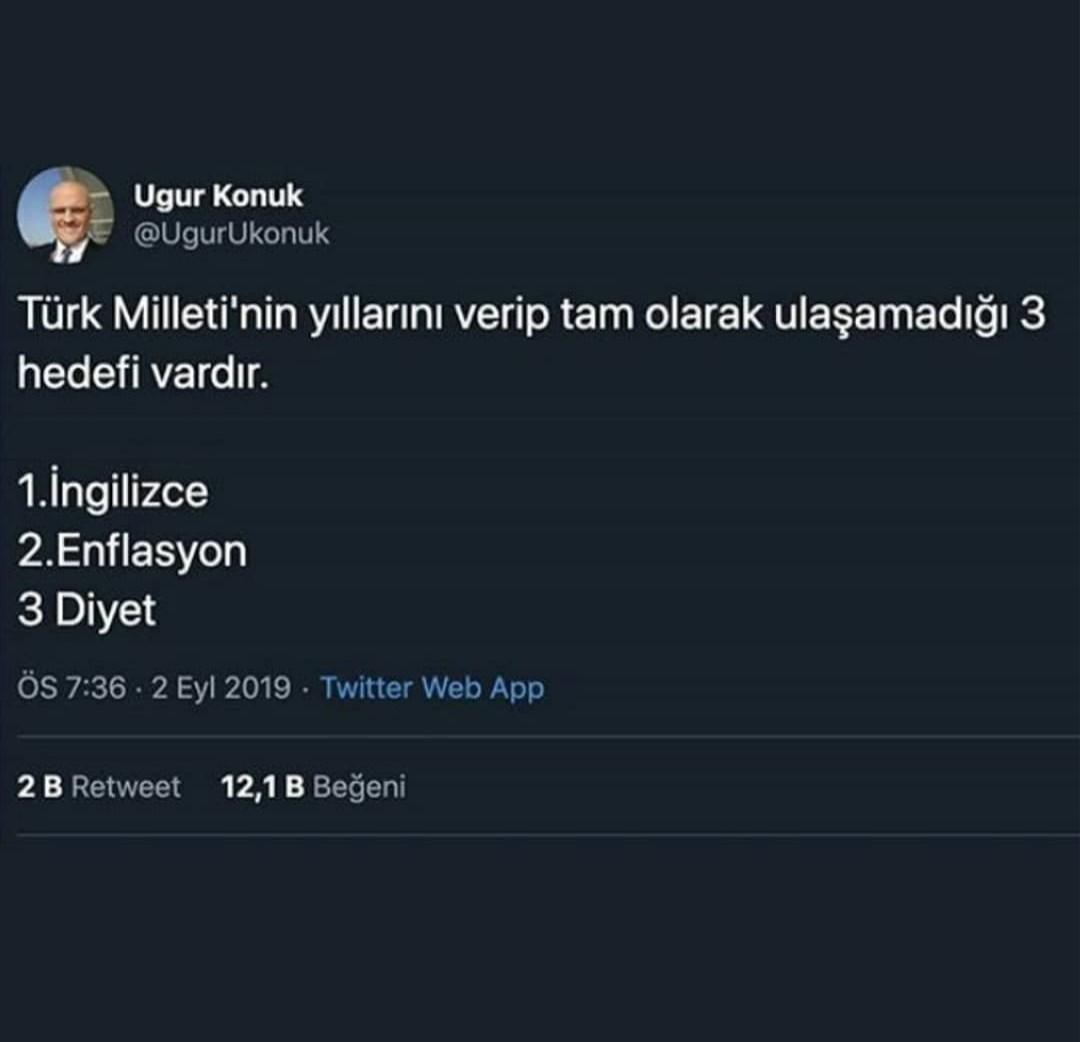 türk milleti olarak ulaşamadığımız hedefler