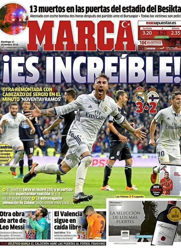 marca spor gazetesi,dünkü olayı unutmadı..