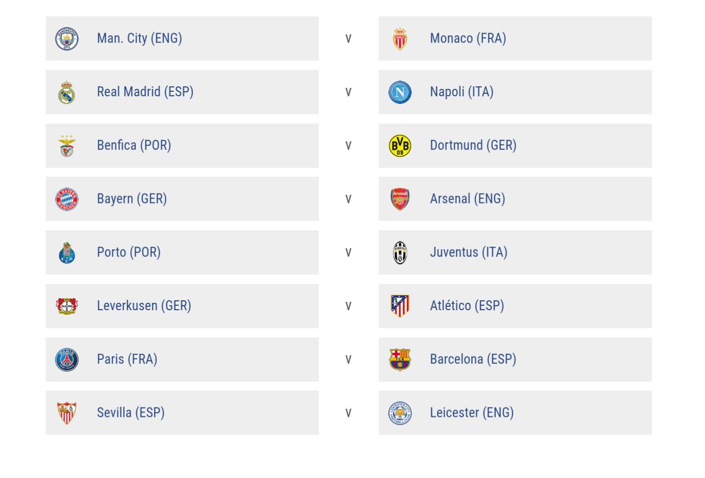 şampiyonlar ligi son 16 kuraları çekildi