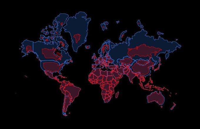 ülkelerin yüz ölçümü bakımından gerçek büyüklükleri