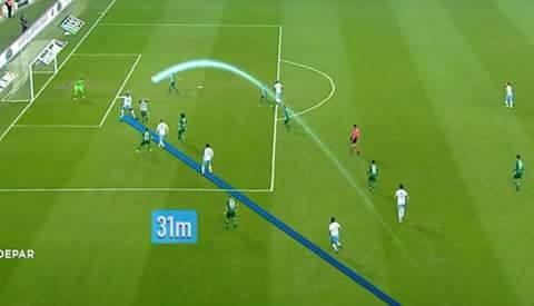 dünkü bursaspor-trabzonspor maçında trabzonspor'un ilk golü mas'ın 31 metre kullandığı taç atışıyla geldi