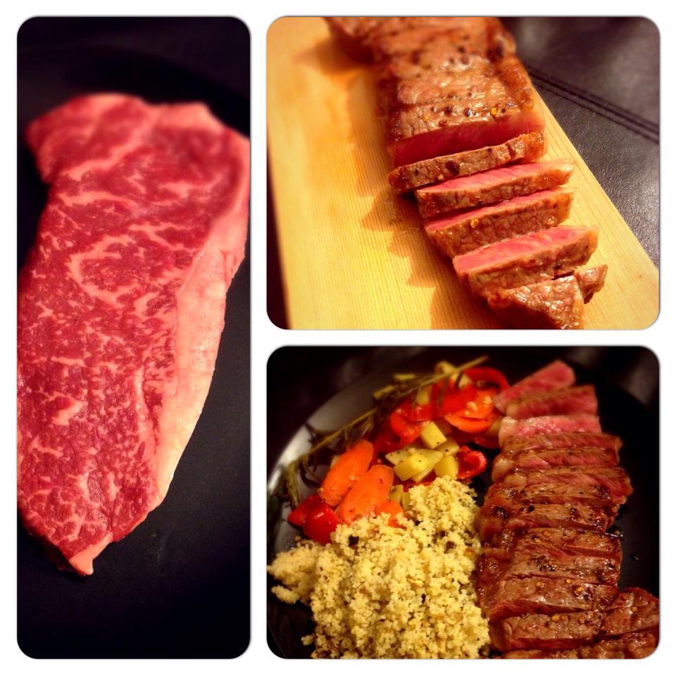 iyi bir bifteğin pişirmesi ve sunumu