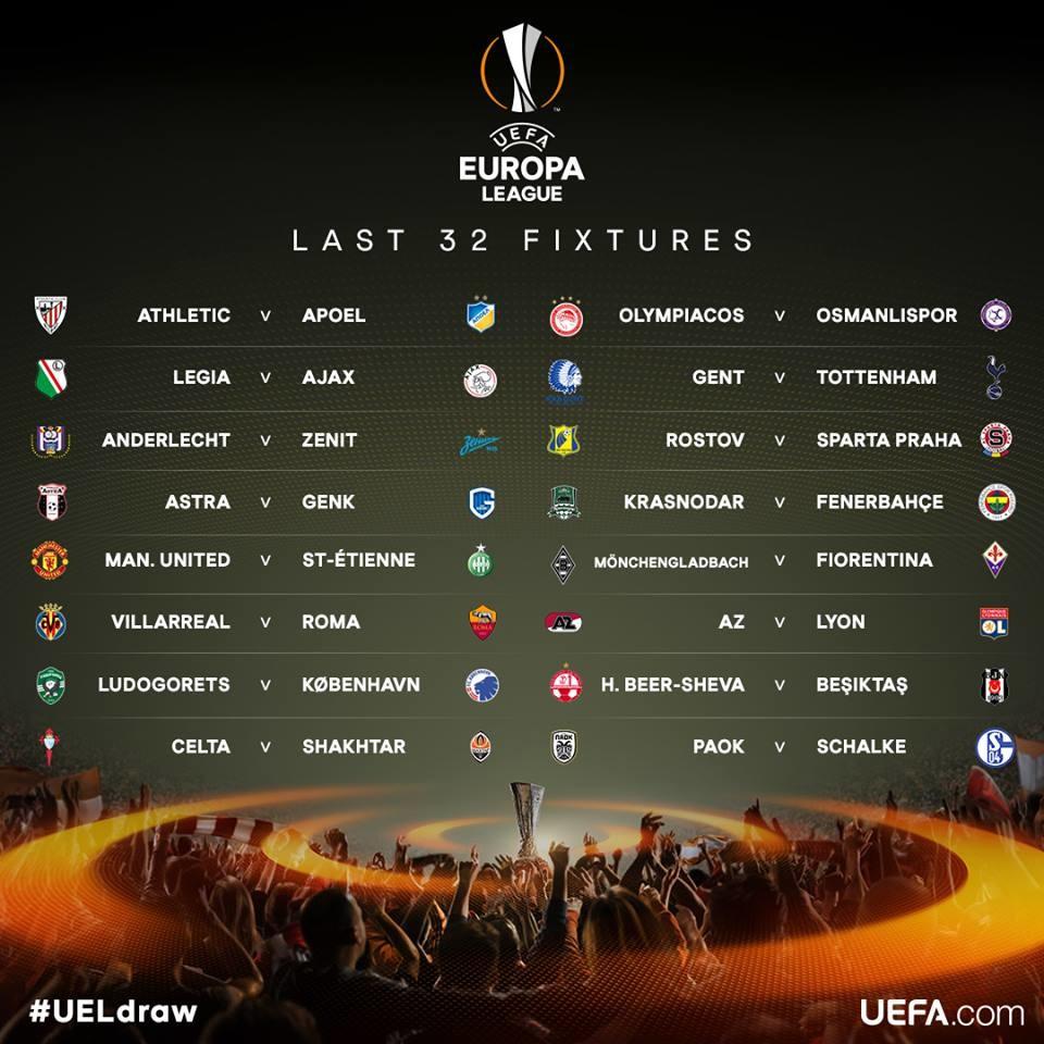 uefa avrupa ligi tur son 32  ilk maçlar [2016-2017 sezonu]