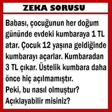 zeka sorusu (easy)