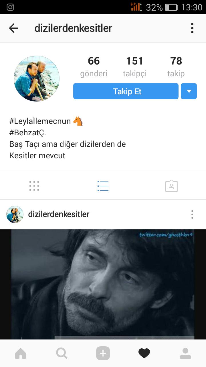 bir zamanlar canki'nin instagram hesabı