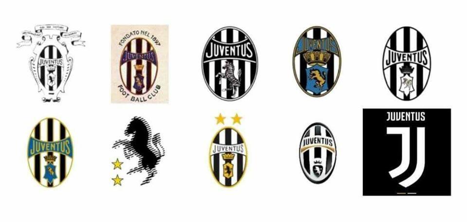 juventus kulübünün kurulduğu ilk günden günümüze logo değişimi