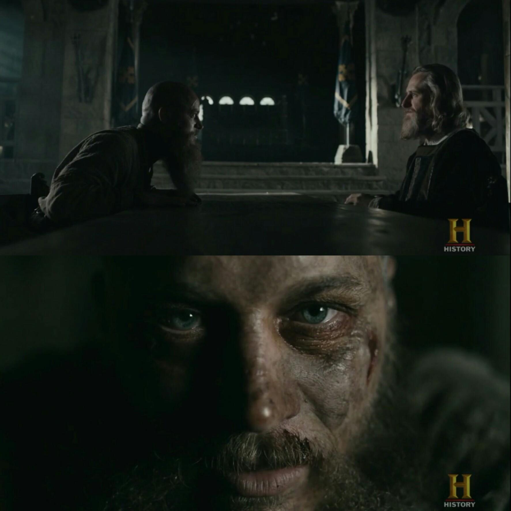 ölüm öncesi bakışları -vikings.