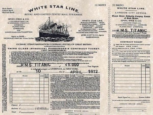 titanik bileti