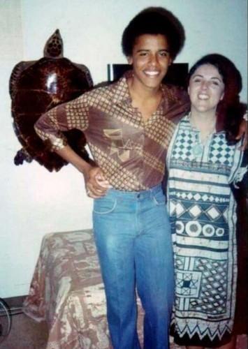 genç barack obama annesiyle birlikte