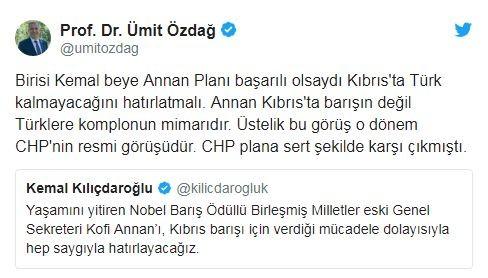 ümit özdağ, kemal kılıçdaroğlu'nun skandal tweetine cevap verdi