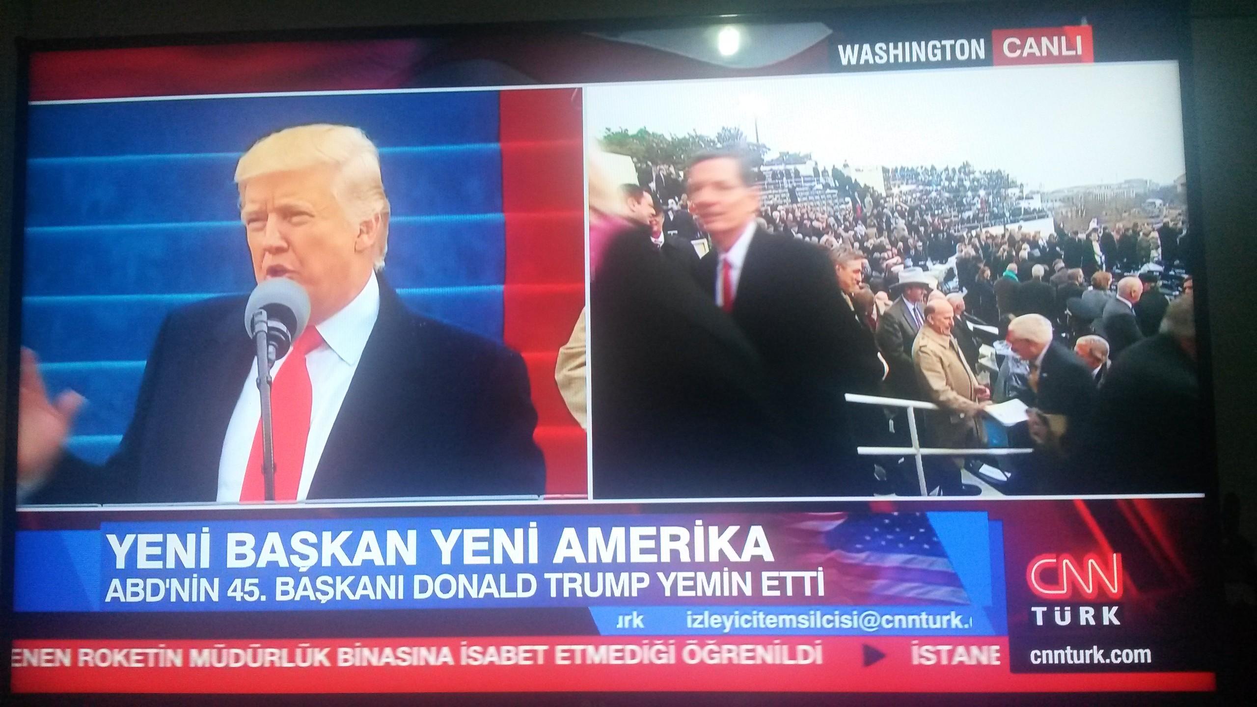 abd'nin 45. başkanı donald trump yemin etti