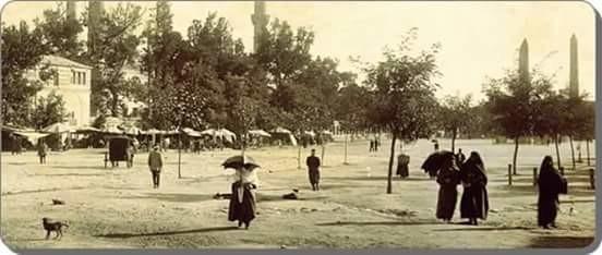 sultanahmed meydanı, 1870'ler istanbul.