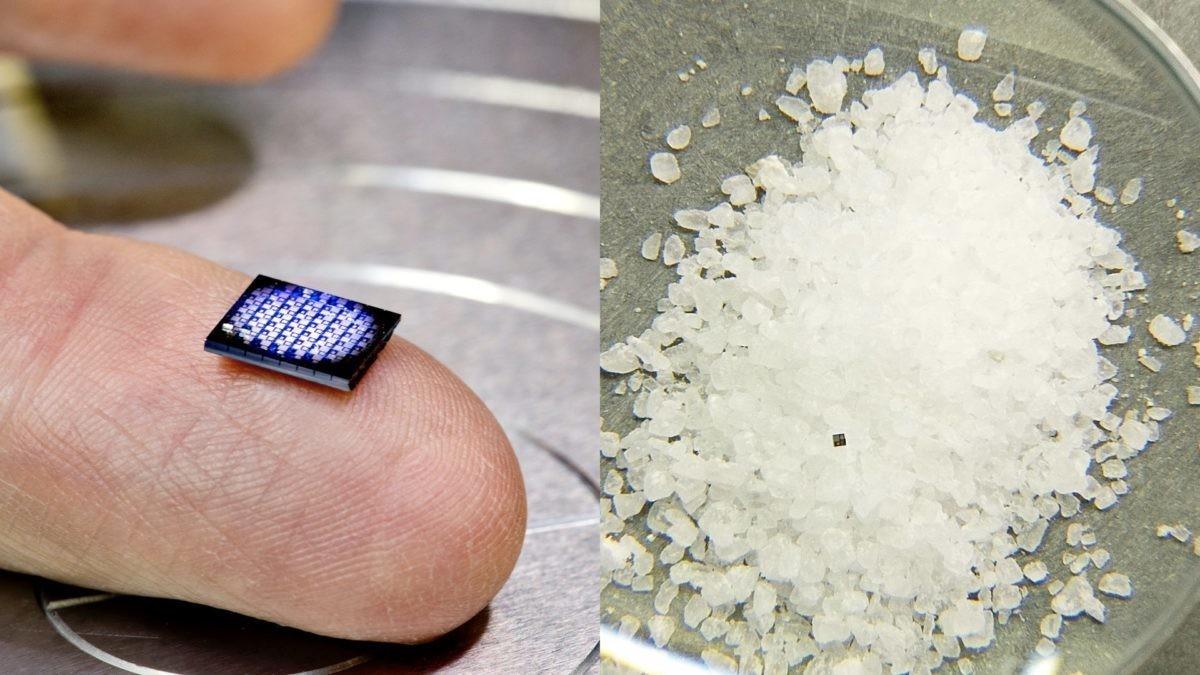 ıbm'nin think 2018 konferansında kaya tuzu tanesinden bile daha küçük olan bir bilgisayar tanıtıldı.