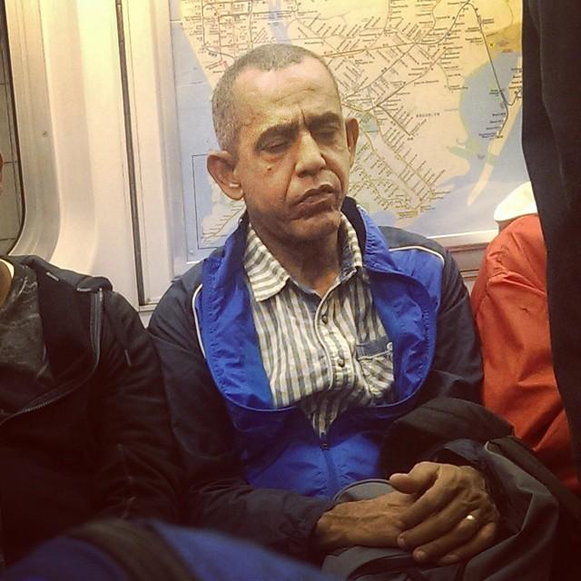 emekliye ayrılan obama'nın metrodaki hali sevenlerini üzdü