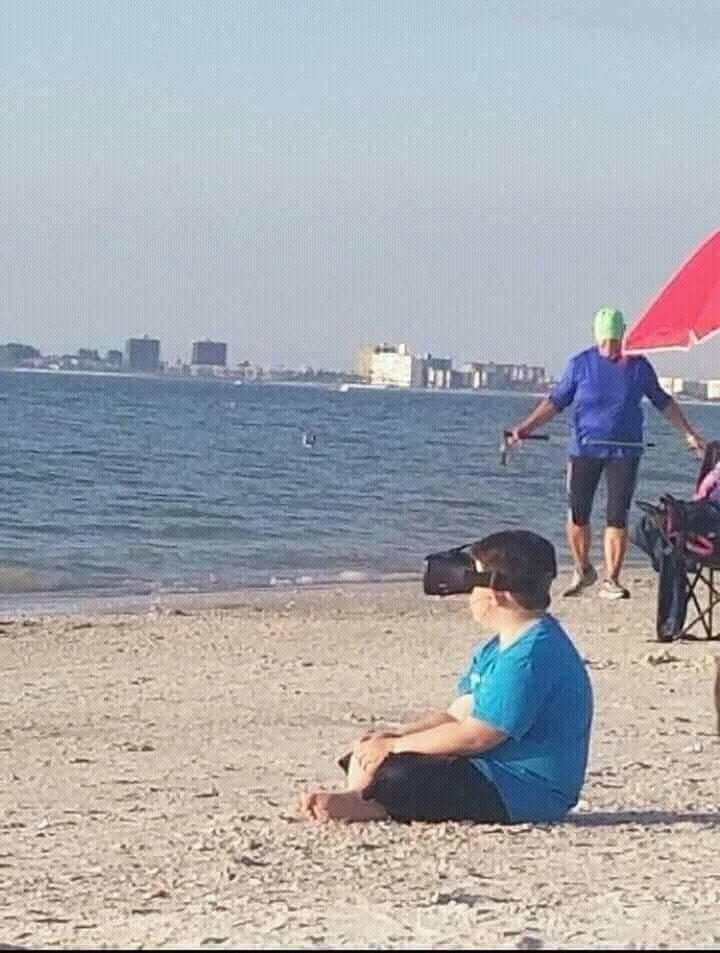 sahilde sanal gerçeklik