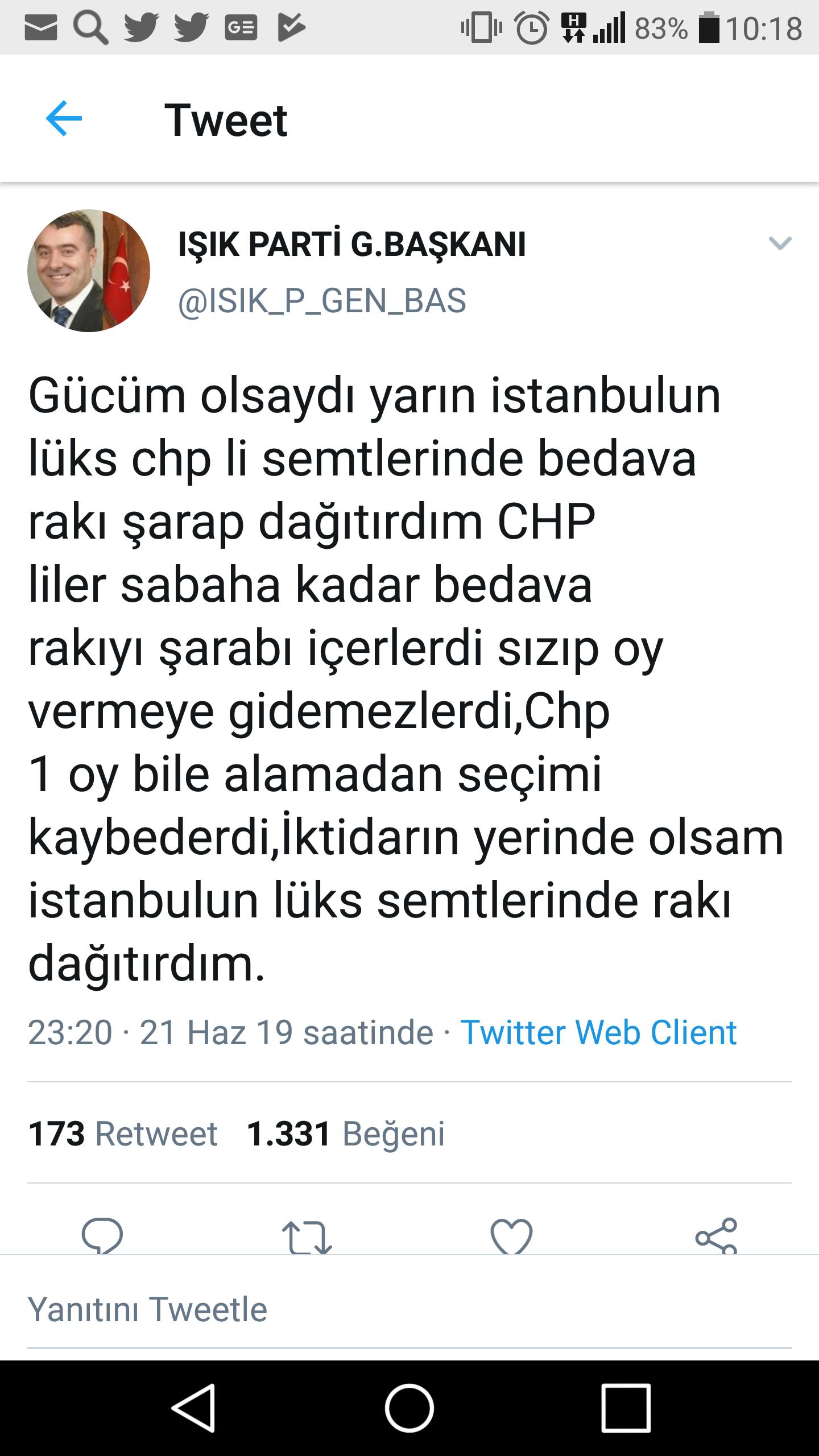 ışık partisi genel başkanın akıl dolu tweeti