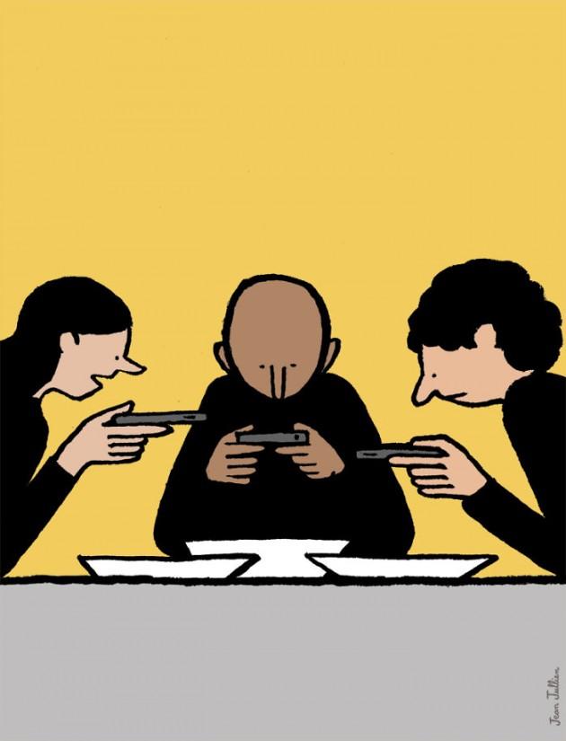 yemeğe başlamadan, fotoğraf çekip takipçilerle paylaşmak adettendir.