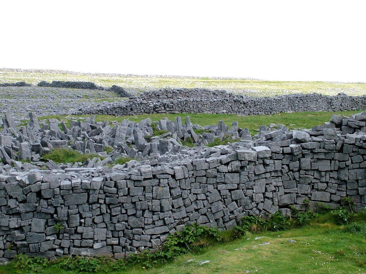 irladalıların atalarının yaptığı taş duvarlar