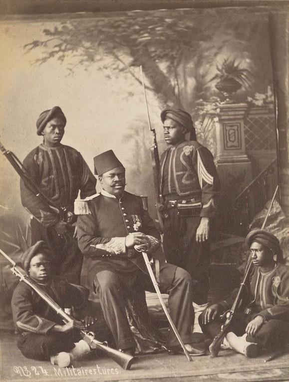 1901: türk ordusu subay ve  askerler, abdullah frères stüdyosu, istanbul