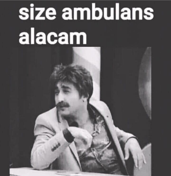 size ambulans alacam hem de sirenli