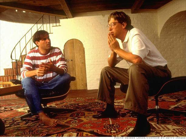 steve jobs ve bill gates 1991 yılında bilgisayar teknolojilerinin geleceğini tartışırken
