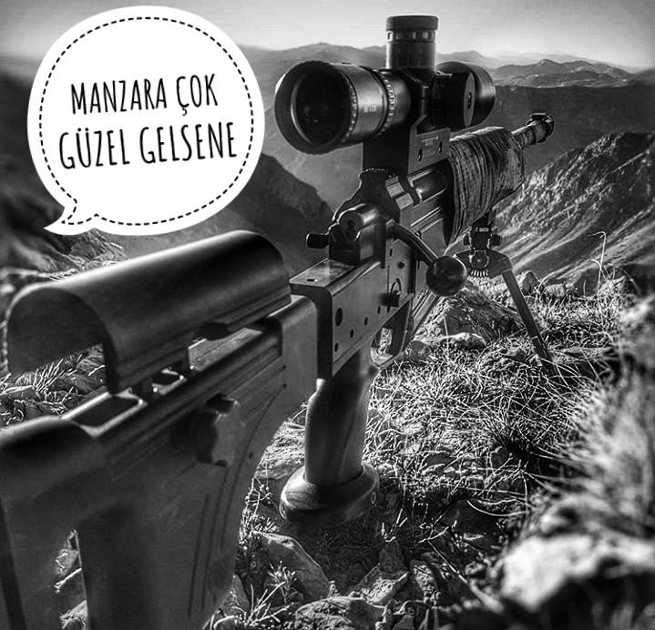 bazı fotoğraflar sadece asildir 😏(bora 12 yerli keskin nişancı tüfeğimiz )