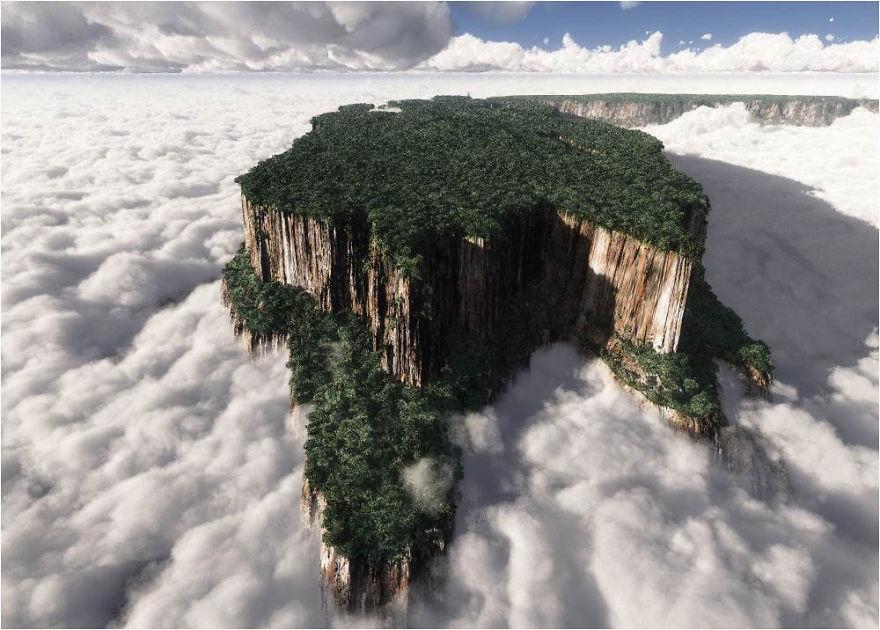 venezuelanın doğusundaki monte roraima
