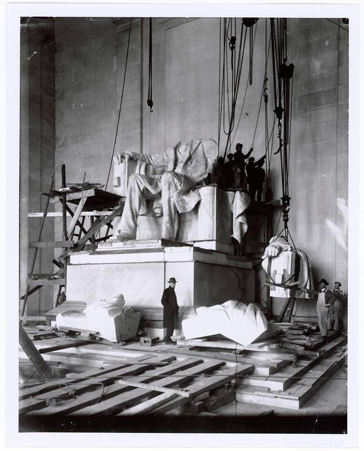 lincoln anıtının yapımı sırasında